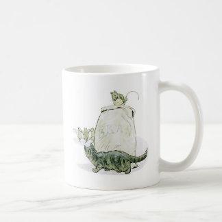 Cat and the Mice Artwork Classic White Coffee Mug