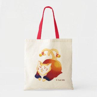 Cat and tote bag
