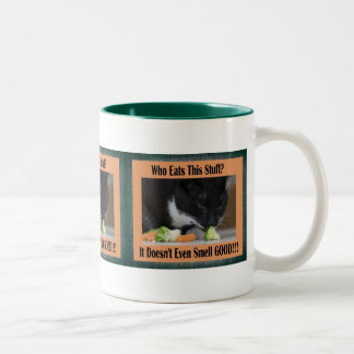 Cat and Veggies Mug