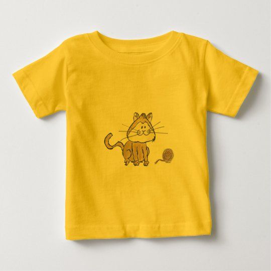 Cat and yarn Infant T-shirt