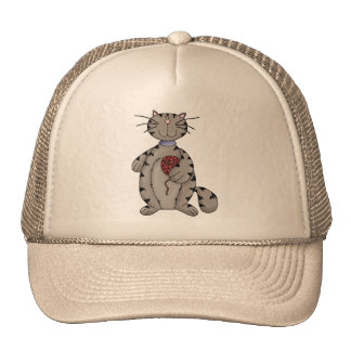 Cat and Yarn Trucker Hat