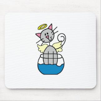 Cat Angel Mousepad
