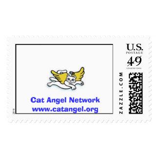 Cat Angel Network Stamp