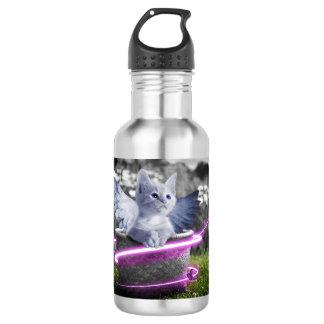 Cat Angel Water Bottle