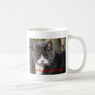Cat: Are you really that stupid? Coffee Mugs