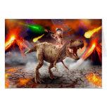 Cat armageddon - Dinosaur cat - bad cat - cat art