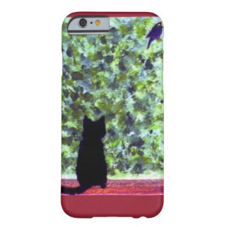 Cat Art Black Cat Bird Watching! Barely There iPhone 6 Case
