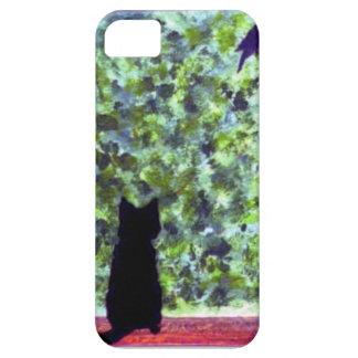 Cat Art Black Cat Bird Watching! iPhone SE/5/5s Case