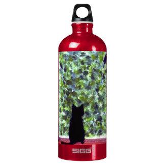 Cat Art Black Cat Bird Watching! SIGG Traveler 1.0L Water Bottle