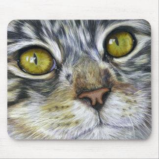 Cat Art - Blink Mouse Pad
