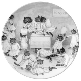 Cat Art by Louis Wain 1900 Dinner Plate