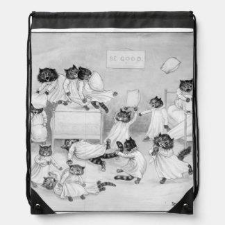 Cat Art by Louis Wain 1900 Drawstring Backpack