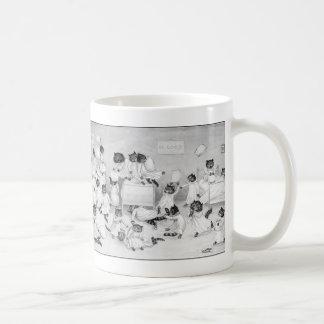 Cat Art by Louis Wain 1900 Classic White Coffee Mug