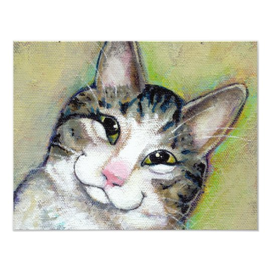 Cat art fun portrait My Middle Name is Trouble Card