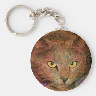 Cat Art Keychain