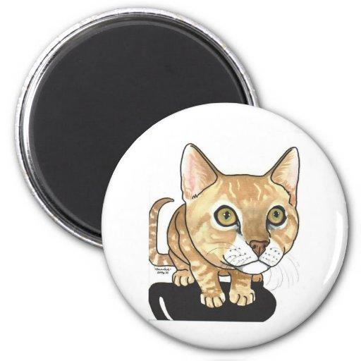 CAT ART Meow bighead cat Fridge Magnet