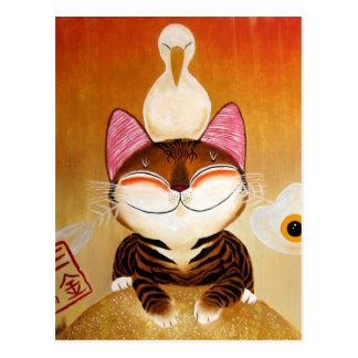 cat art - metal (5 elements) post cards