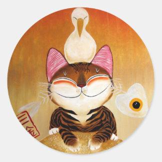 cat art - metal (5 elements) sticker