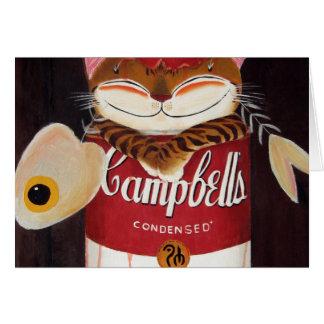 cat art - tomato-based catfish soup greeting cards