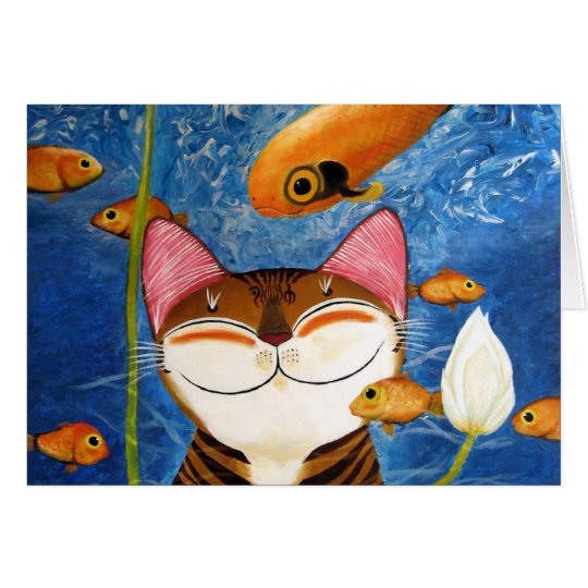 cat art - water (5 elements) card