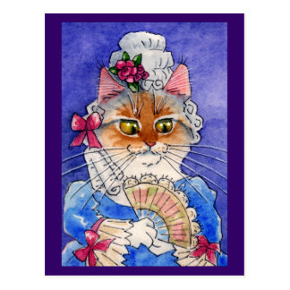 Cat as Queen Marie Antoinette Postcard