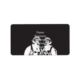 cat astronaut - black and white cat - cat memes label