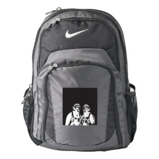 cat astronaut - black and white cat - cat memes nike backpack