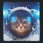 "Cat astronaut - cats in space  - cat space bandana<br><div class=""desc"">cat , pet , kittens , kitty , astronaut , meow , &quot;tabby cat&quot; , &quot;funny cats&quot; , &quot;cute cats&quot;  , &quot;space cat&quot; , </div>"