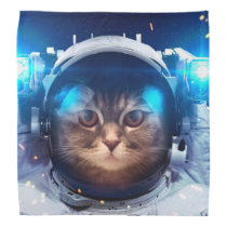 Cat astronaut - cats in space  - cat space bandana