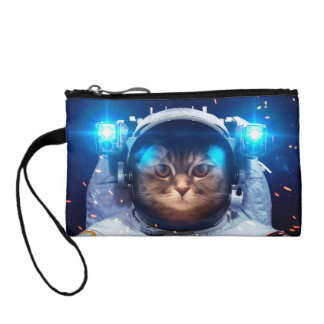 Cat astronaut - cats in space  - cat space change purse