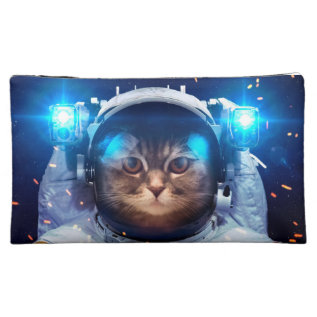 Cat Astronaut - Cats In Space  - Cat Space Cosmetic Bag at Zazzle