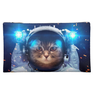 Cat astronaut - cats in space  - cat space cosmetic bag