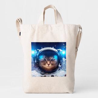 Cat astronaut - cats in space  - cat space duck bag