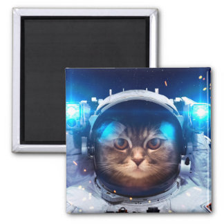 Cat astronaut - cats in space  - cat space magnet