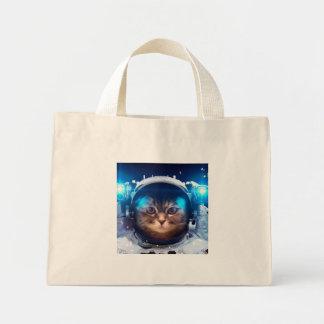 Cat astronaut - cats in space  - cat space mini tote bag