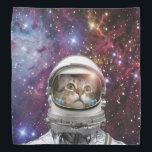 "Cat astronaut - crazy cat - cat bandana<br><div class=""desc"">pet , ""cute cats"" , ""tabby cat"" , astronaut , ""funny cats "" , ""space cat"" , feline , ""cats in space"" , ""pet cat"" , ""astronaut cat""</div>"