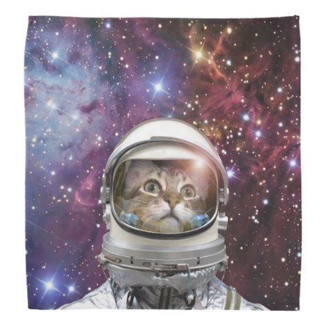 Cat astronaut - crazy cat - cat bandana