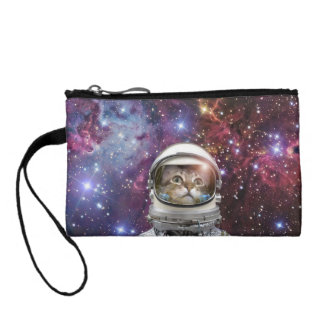Cat astronaut - crazy cat - cat coin purse