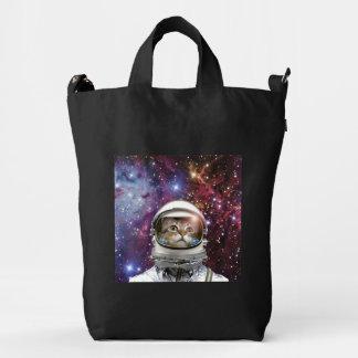Cat astronaut - crazy cat - cat duck bag