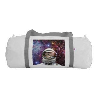 Cat astronaut - crazy cat - cat duffle bag