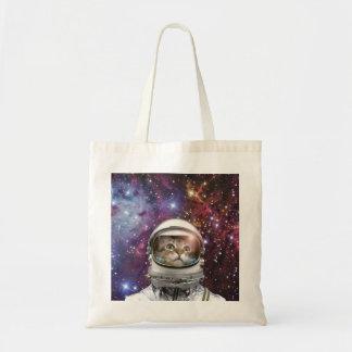 Cat astronaut - crazy cat - cat tote bag