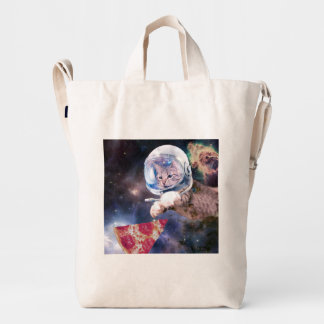 cat astronaut - funny cats - cats in space duck bag
