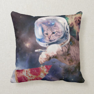 cat astronaut - funny cats - cats in space throw pillow