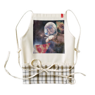cat astronaut - funny cats - cats in space zazzle HEART apron