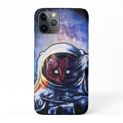 Cat Astronaut Kitten Space iPhone 11 Pro Case
