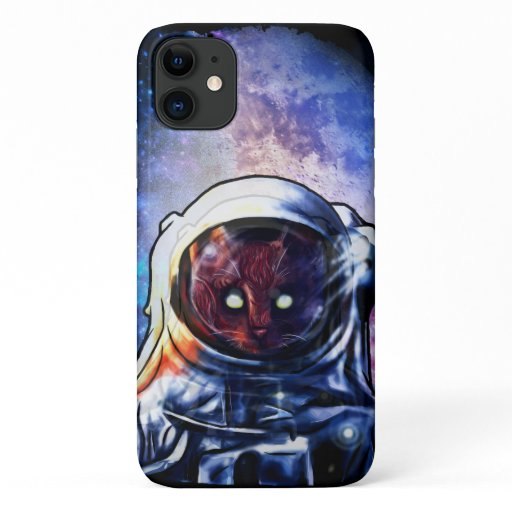 Cat Astronaut Kitten Space iPhone 11 Case