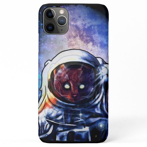 Cat Astronaut Kitten Space iPhone 11 Pro Max Case