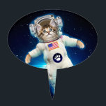 "Cat astronaut - space cat - Cat lover Cake Topper<br><div class=""desc"">astronaut,  cat space,  cats in space,   kitty,  pussycat,  pet,  kittens,  cute cats,  tabby cat,  funny cats</div>"