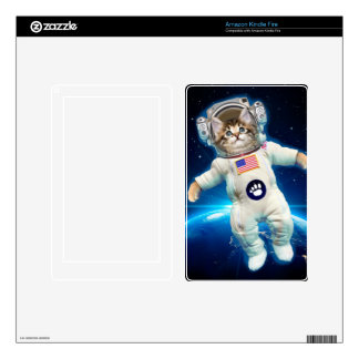 Cat astronaut - space cat - Cat lover Decal For Kindle Fire