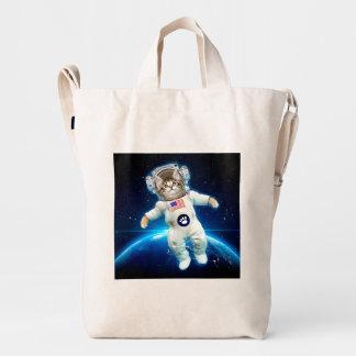 Cat astronaut - space cat - Cat lover Duck Bag